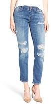 7 For All Mankind 'Josefina' Boyfriend Jeans (Bordeaux Broken Twill)