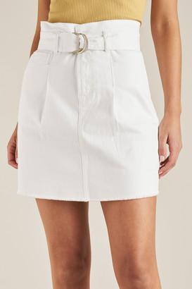 Seed Heritage Belted Denim Mini Skirt