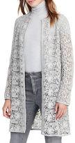 Lauren Ralph Lauren Lace Open-Front Coat