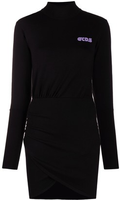 GCDS Logo Print Knitted Dress