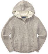Ralph Lauren 7-16 Wool-Cotton Full-Zip Hoodie