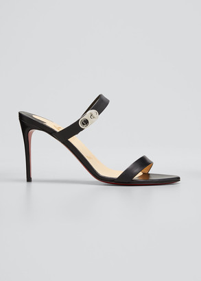 Christian Louboutin 85mm Lock Me Red Sole Stiletto Sandals