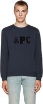 A.P.C. Navy College Sweatshirt