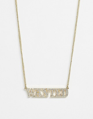 Skinnydip Skinny Dip Wanted Necklace In Gold