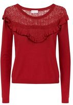 Claudie Pierlot Melodie Lace Yoke Jumper