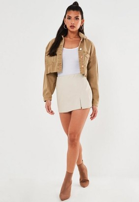 Missguided Mock Croc Faux Leather Skort