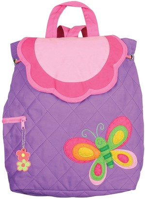 Stephen Joseph Purple Butterfly Quilted Backpack