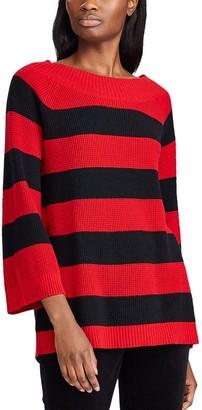 Chaps Women's Striped Flare-Sleeve Sweater