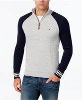 Tommy Hilfiger Men's Colorblocked Quarter-Zip Sweater
