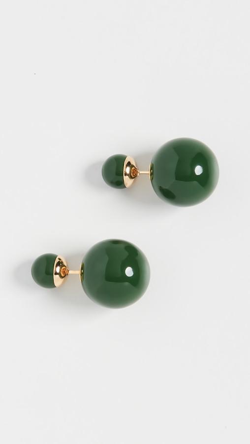 20/% off sale Sky BLUE Double Ball Stud Earrings Minimalist Chic Double Sided Front Back Earrings