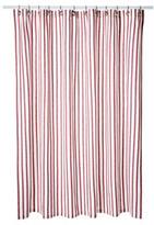 Thin Stripe Shower Curtain, Red
