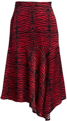 MUNTHE Key Zebra Midi Skirt