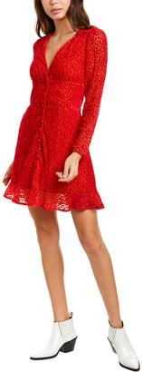 The Kooples Flocked Leo Mini Dress