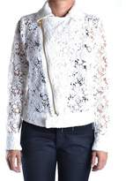 Pinko Women's White Wool Outerwear Jacket.