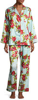 BedHead Hibiscus Classic Pajama Set, Light Blue