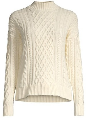Minnie Rose Cashmere Cable-Knit Sweater