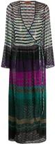 Missoni striped knit wrap dress
