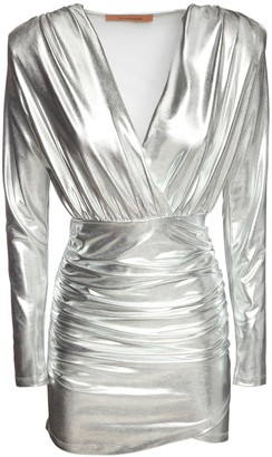 The Andamane Colette Metallic Jersey Mini Dress