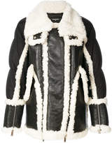 DSQUARED2 shearling trim padded jacket