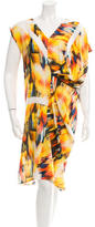 Zero Maria Cornejo Tie-Dye Draped Dress