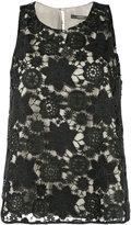 Odeeh lace sleeveless top - women - Cotton/Polyester/Polyurethane - 36