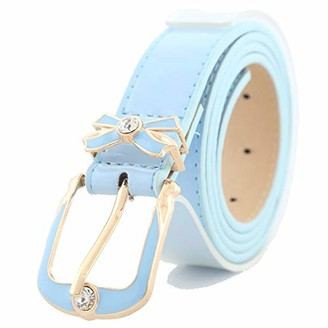 Ynzsa Belt rhinestone ladies bow decoration Europe and America simple wild casual rhinestone pin buckle belt patent leather candy color