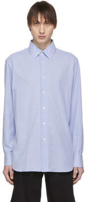 Brioni Blue Pique Long Sleeve Shirt