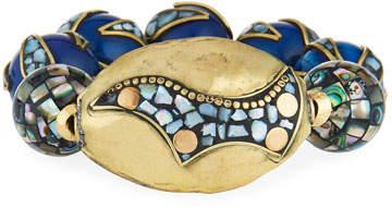 Devon Leigh 18k Gold-Plated Pearlescent Bead Bracelet