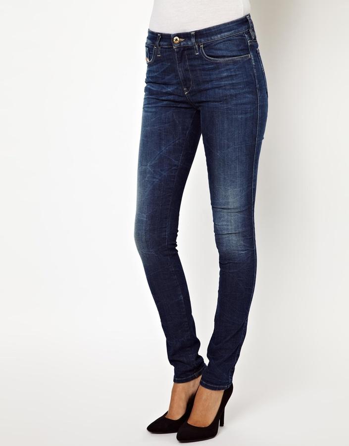 Diesel Skinzee Skinny Jeans - Blue