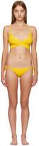 Stella McCartney Yellow Timeless Basics Wrap Bikini
