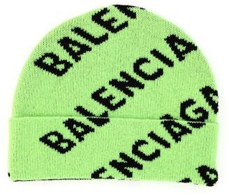 Balenciaga Allover Logo Beanie