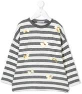 Elsy striped bow detail jumper