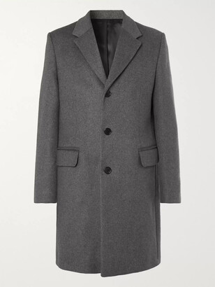 Acne Studios Gavin Melange Wool-Blend Overcoat