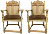 One Kings Lane Vintage 19th-C. Bleached Oak French Chairs,Pair