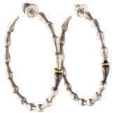 Gurhan Two-Tone Wave Hoop Earrings