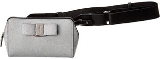 Salvatore Ferragamo Vara Bow Mini Glitter Leather Belt Bag