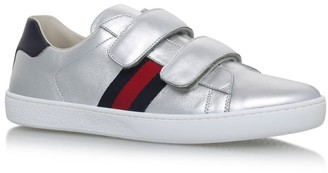 Gucci Kids New Ace Metallic Sneakers