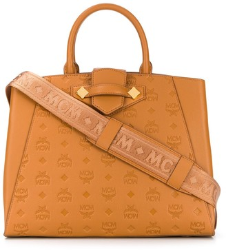 MCM Monogrammed Medium Tote Bag
