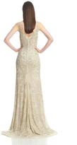 Theia V-Neckline Beaded Gown 882595
