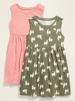 Old Navy Fit & Flare Sleeveless Dress 2-Pack for Toddler Girls