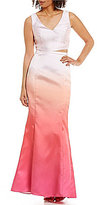 Laundry by Shelli Segal Taffeta Ombre 2-Piece Gown
