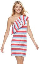 Juicy Couture Women's One-Shoulder Striped Shift Dress