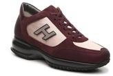Hogan Final Sale Suede Leather Lace-Up Sneaker