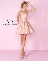 Mac Duggal 30521C Gold Printed Scoop Cocktail Dress