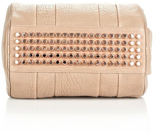 Alexander Wang Rocco In Latte Pebble With Rose Gold