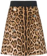 Dolce & Gabbana mini brocade leo skirt
