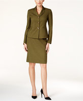 Le Suit Melange Three-Button Skirt Suit