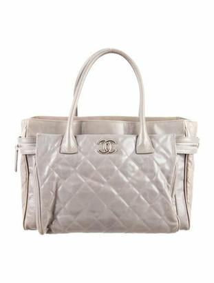 Chanel Glazed Calfskin New Portobello Tote Grey