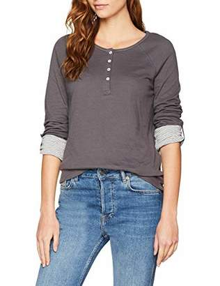 Mustang Women's Fancy Henley Longsleeve T-Shirt,M