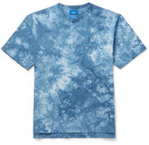 Beams Tie-dyed Cotton-jersey T-shirt - Blue